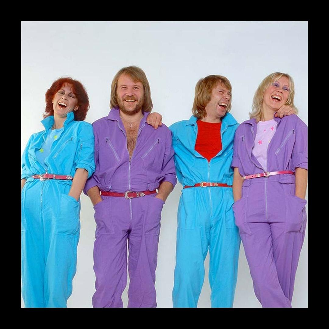 A photo of the members of the ABBA group