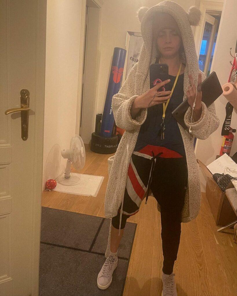 Cara Delevigne's selfie