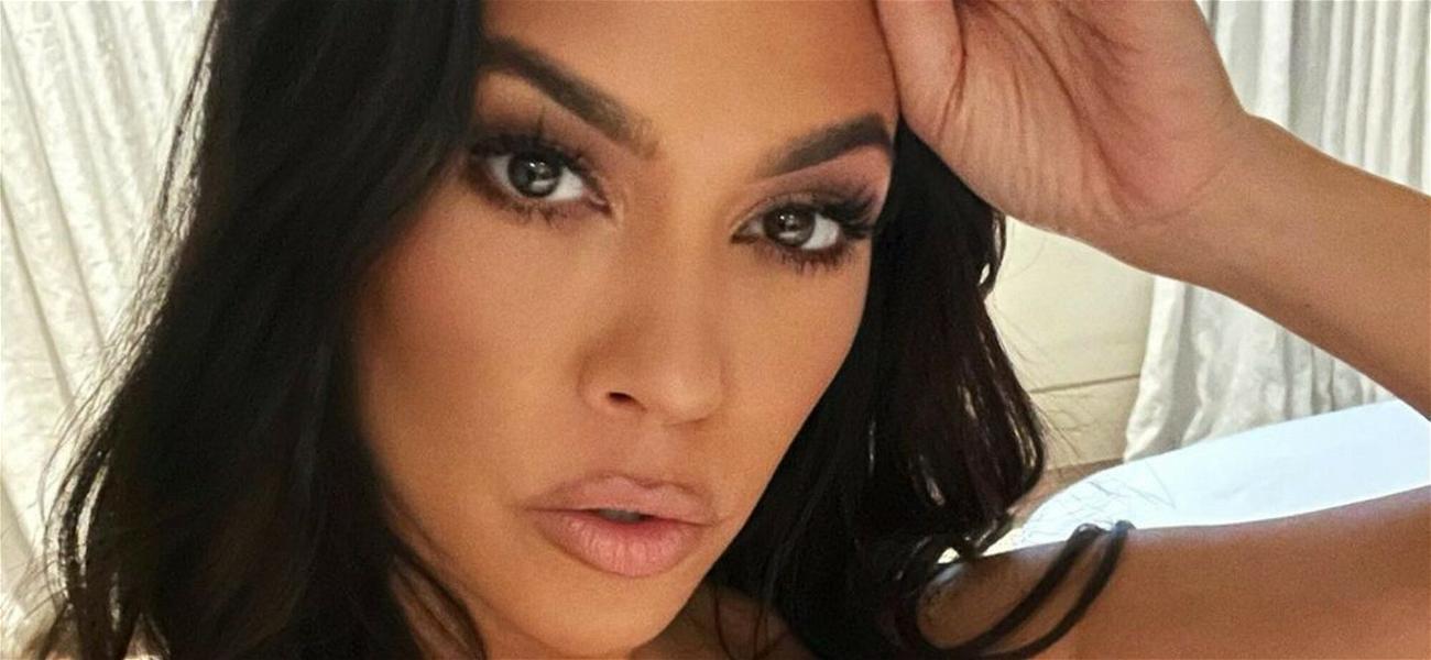 Kourtney Kardashian Nearly Spills Out Of Her Bralette In Sultry Selfies Taken 'Last Week'