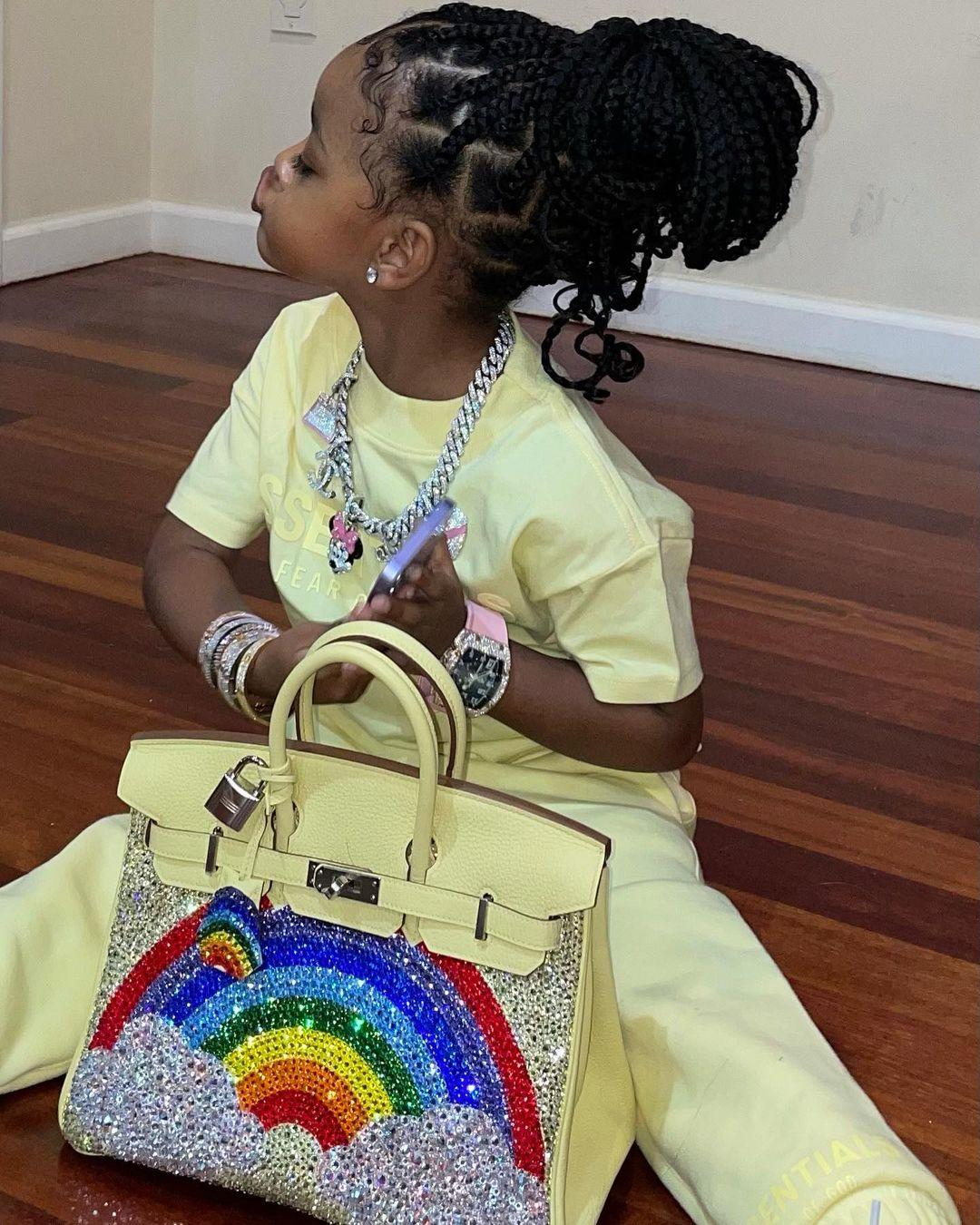 Cardi B Gives 3-Year-Old Daughter A Bedazzled $50,000 Handbag!