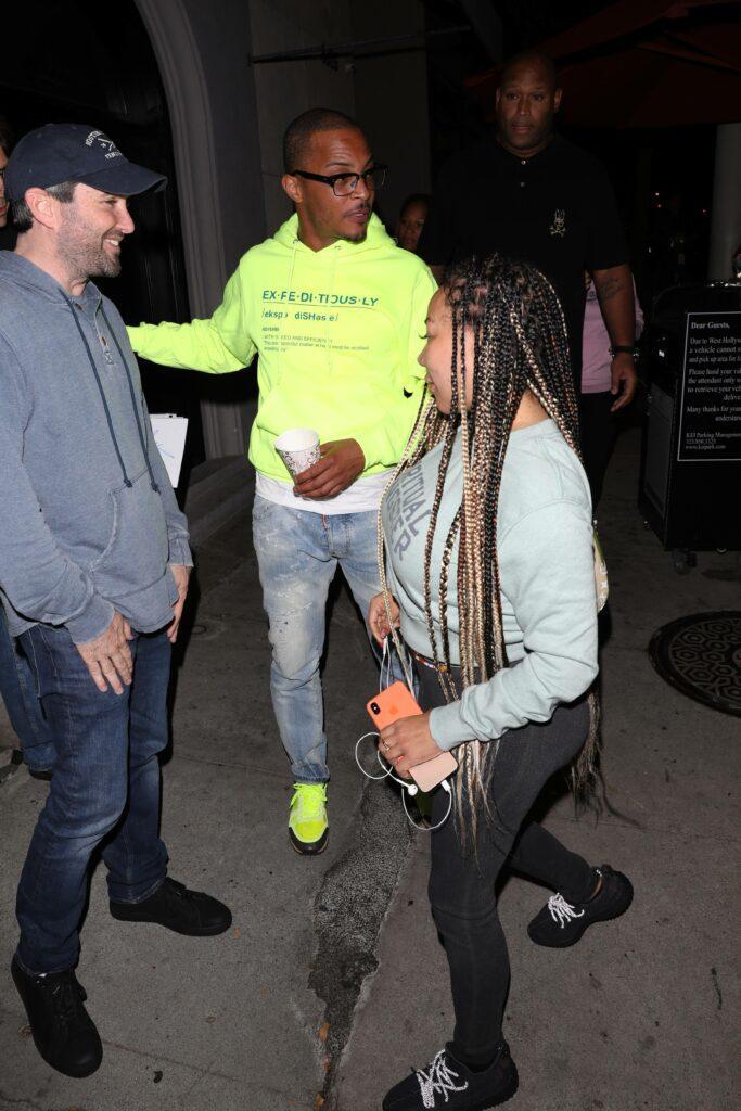 Rapper T.I. and Tameka Cottle grab dinner at LA hot spot Craig's