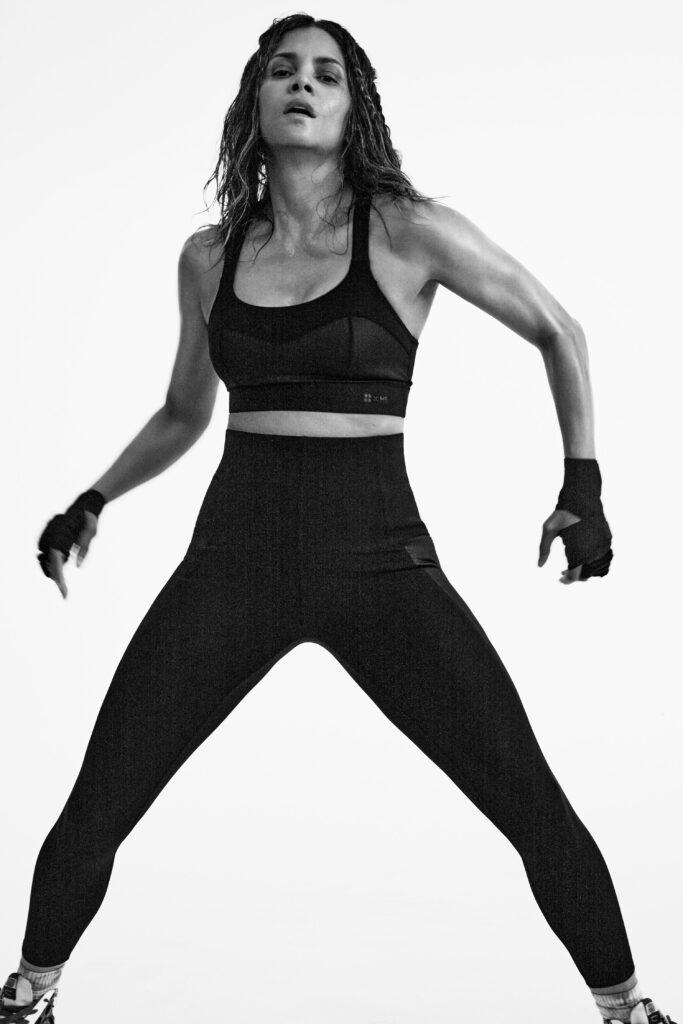 Halle Berry works out for Sweaty Betty