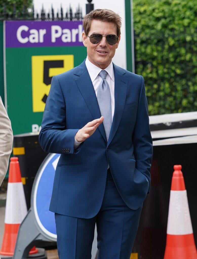 Tom Cruise Celebrities attending Wimbledon Tennis Championship 2021