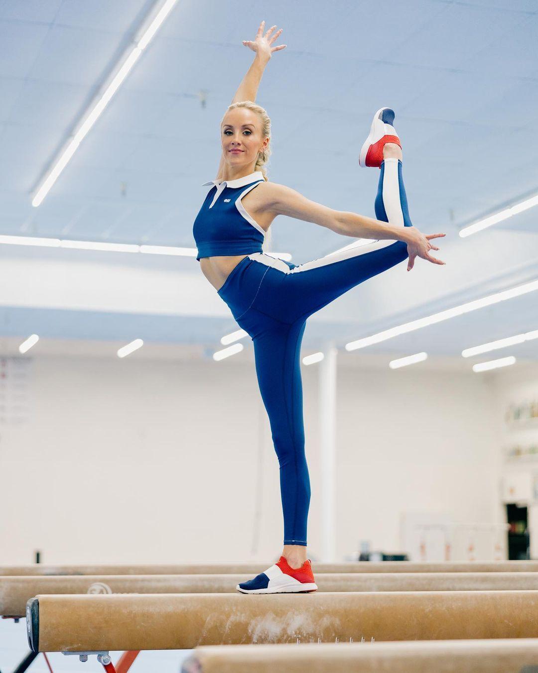 Nastia Luikin Proves She's Still Got It With Aerial Splits