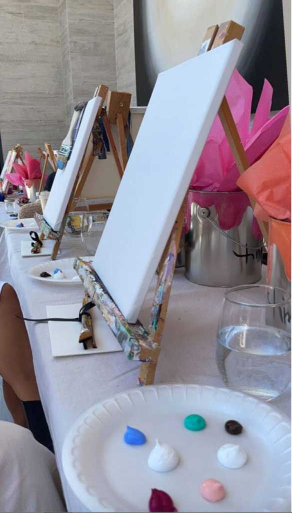 Paint easel and paint