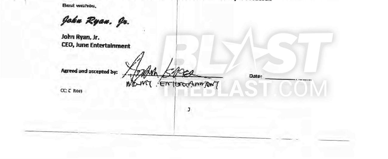 Keira Knightley's agent Adam Isaacs' fake signature