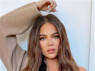 Khloe Kardashian Wows In Fishnet Dress & Nude Bodysuit To Promote Skims
