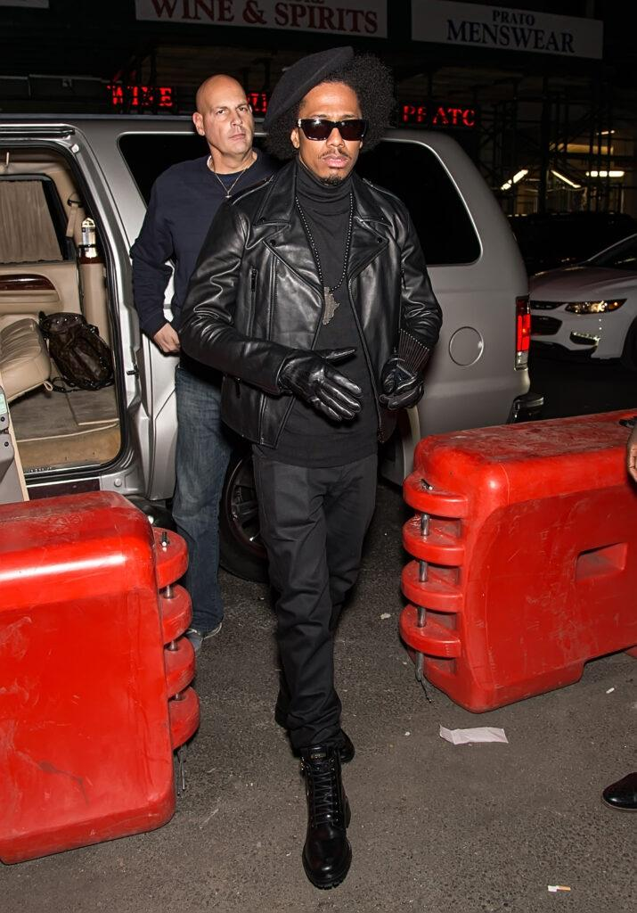 Nick Cannon is seen arriving at Heidi Klum apos s 18th Annual Halloween Party in New York