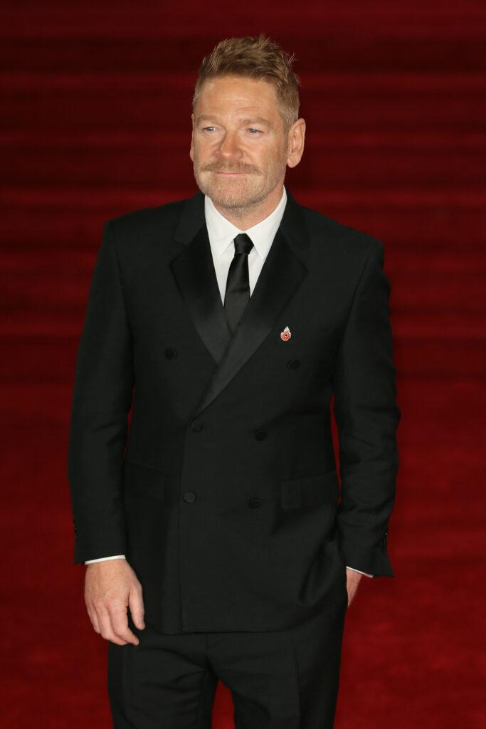 Sir Kenneth Branagh Michelle Pfeiffer and Dame Judi Dench arriving at Royal Albert Hall for the World Premiere of apos Murder On The Orient Express apos - London