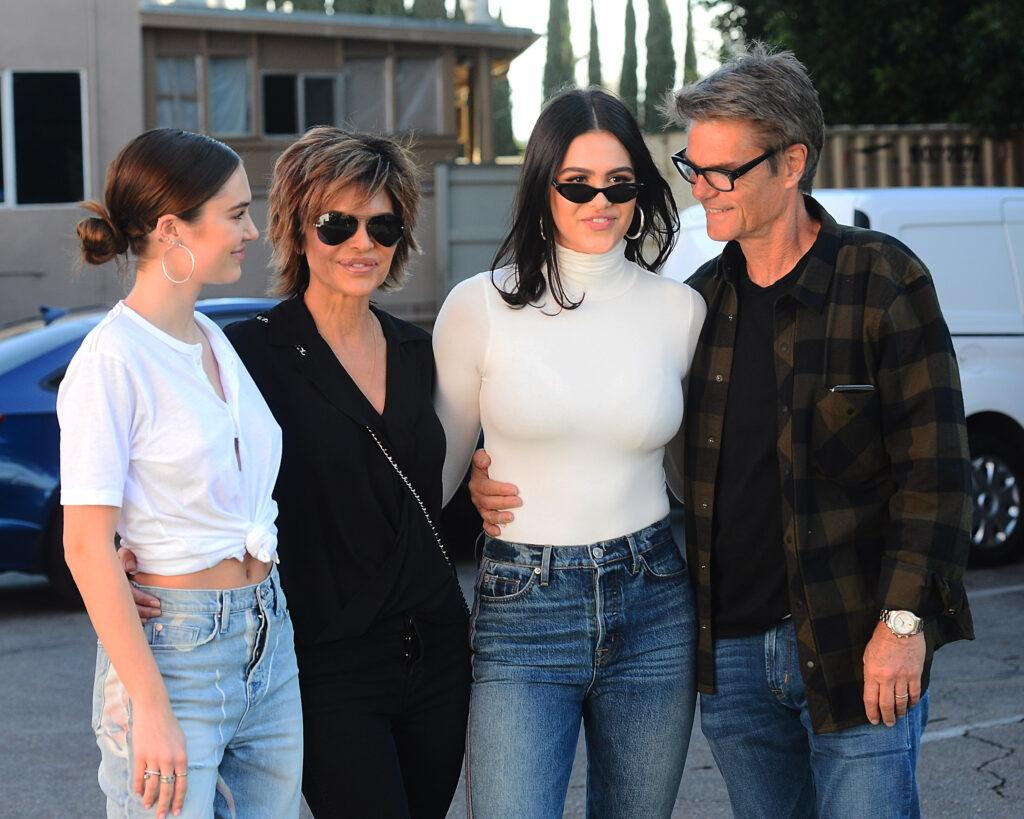Amelia Hamlin and Family at Her Hudson Jeans Billboard Launch in West Hollywood
