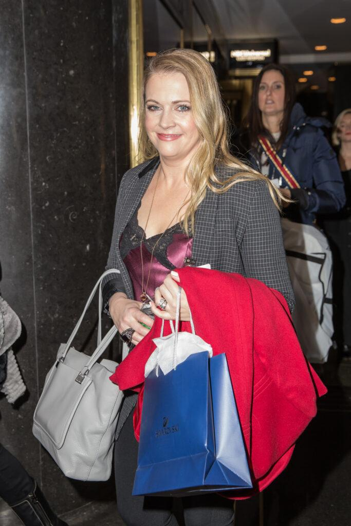 Melissa Joan Hart is seen arriving to NBC apos s NY Live
