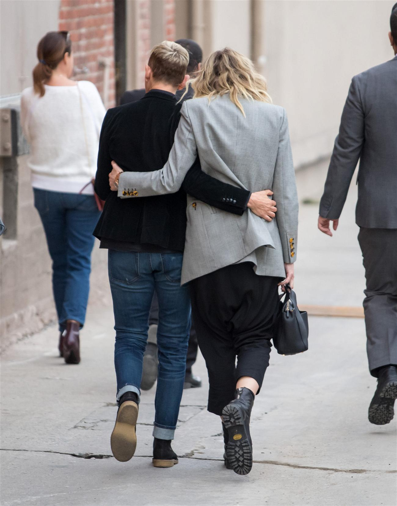 Portia de Rossi and Ellen DeGeneres at apos Kimmel apos