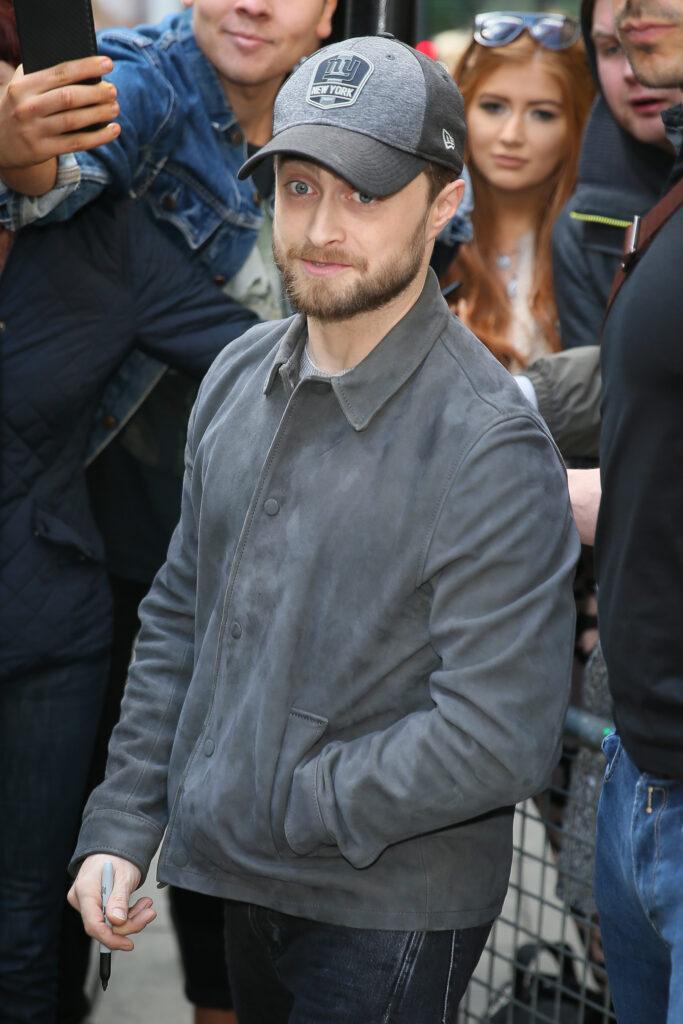 Daniel Radcliffe leaving BBVC Radio Two Radio Studios - London