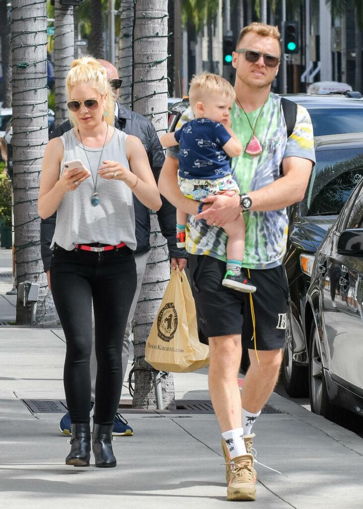 Heidi Montag and family out and about