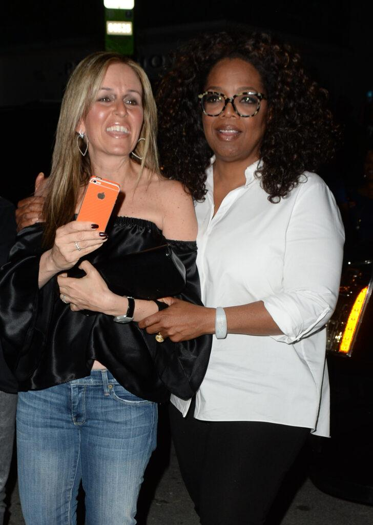 Oprah Winfrey and best friend Gayle King are seen leaving Prime 112 restaurant after finishing Oprah apos s The Life You Want Weekend at American Airlines Arena in Miami Beach