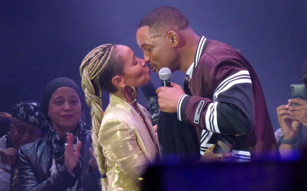 Will Smith is joined on stage by wife Jada and old friend DJ Jazzy Jeff who wished Will happy birthday Will had performed in concert in Budapest