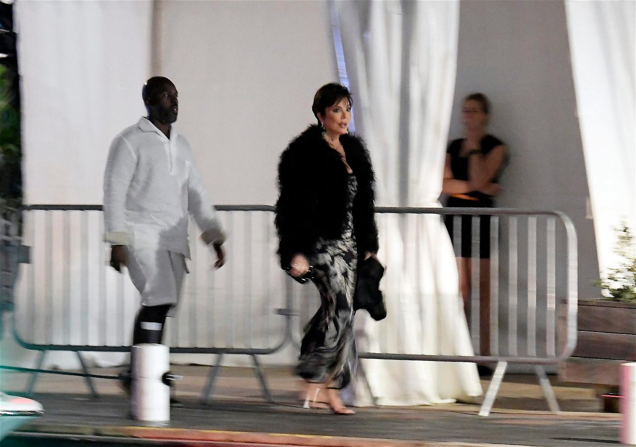 Kris Jenner and Corey Gamble seen enjoying a night out in St Barts