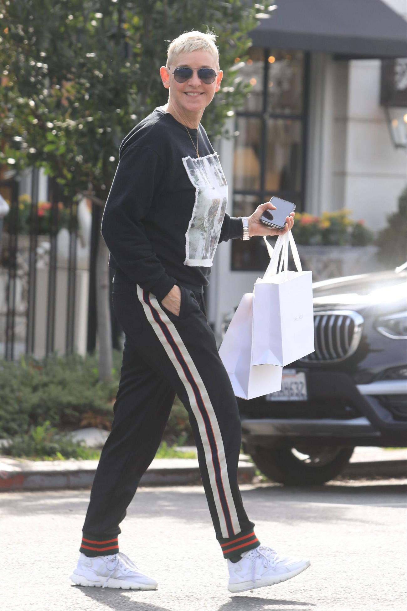 Ellen DeGeneres out shopping on Melrose Pl in West Hollywood