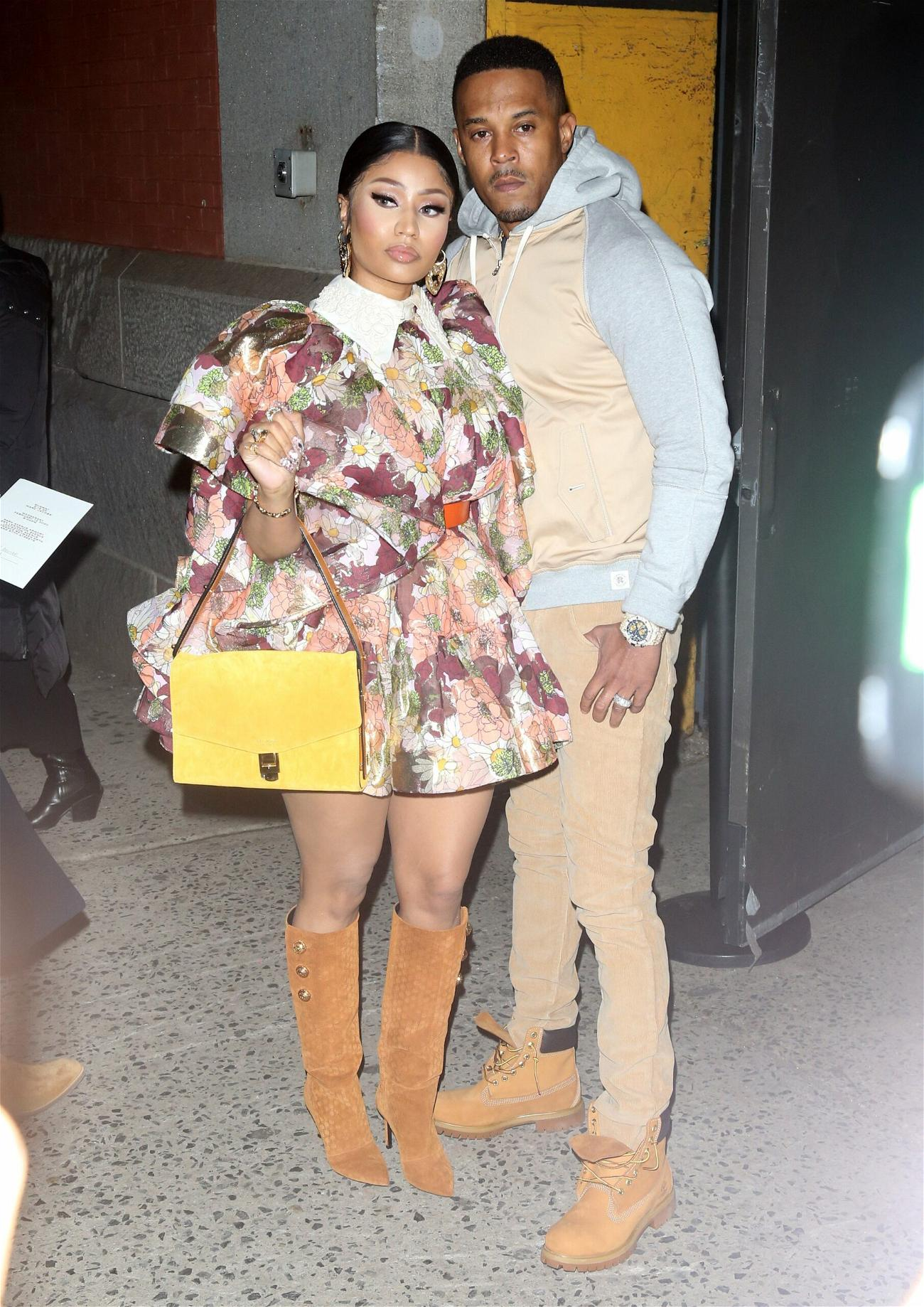 Nicki Minaj and Kenneth Petty out and about in New York City