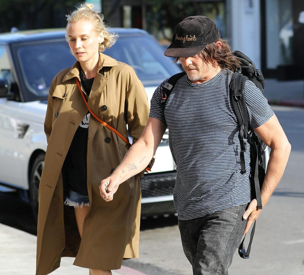 Diane Kruger and boyfriend Norman Reedus strolling around Beverly Hills