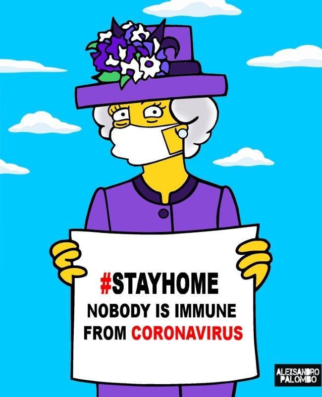 Royals in cartoon coronavirus warnings