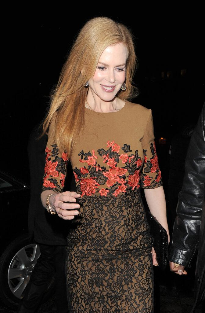 Nicole Kidman enjoys a night out at Laperouse restaurant and wine bar appearing a little unsteady on her feet as she leaves after spending around two hours inside the venue