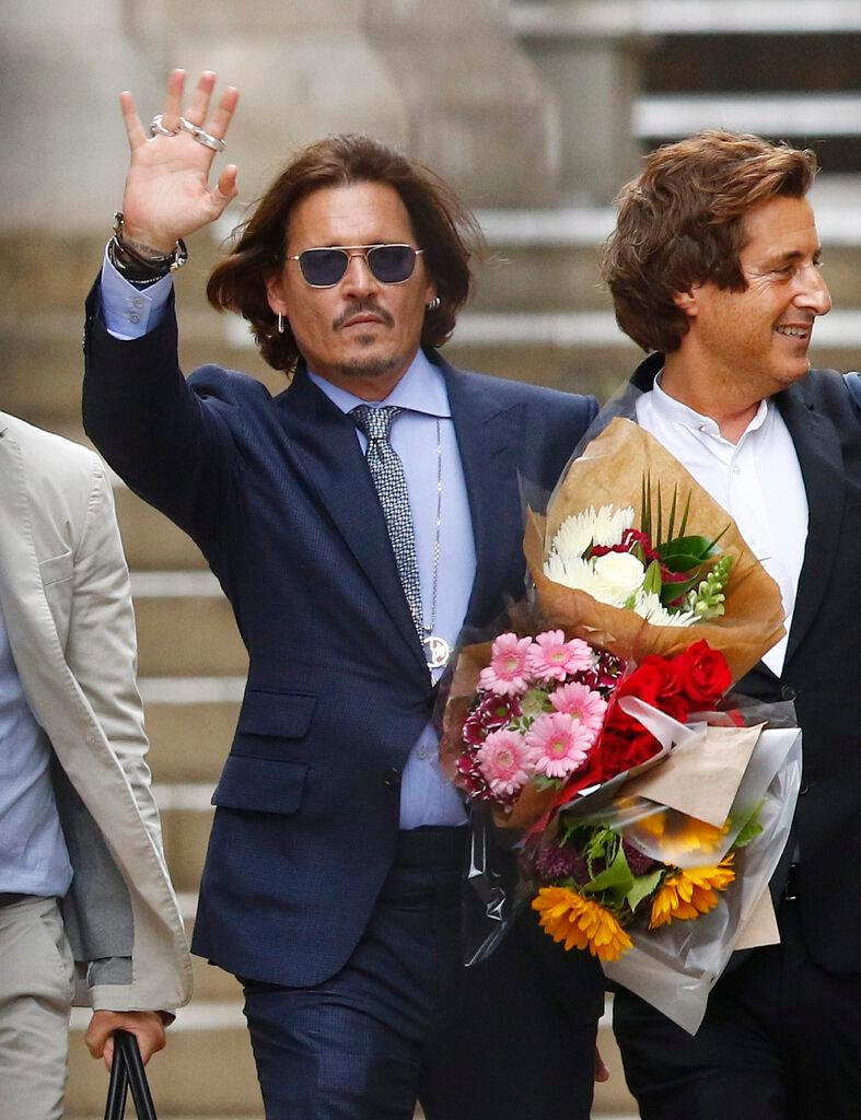 Johnny Depp Leaving High Court In London