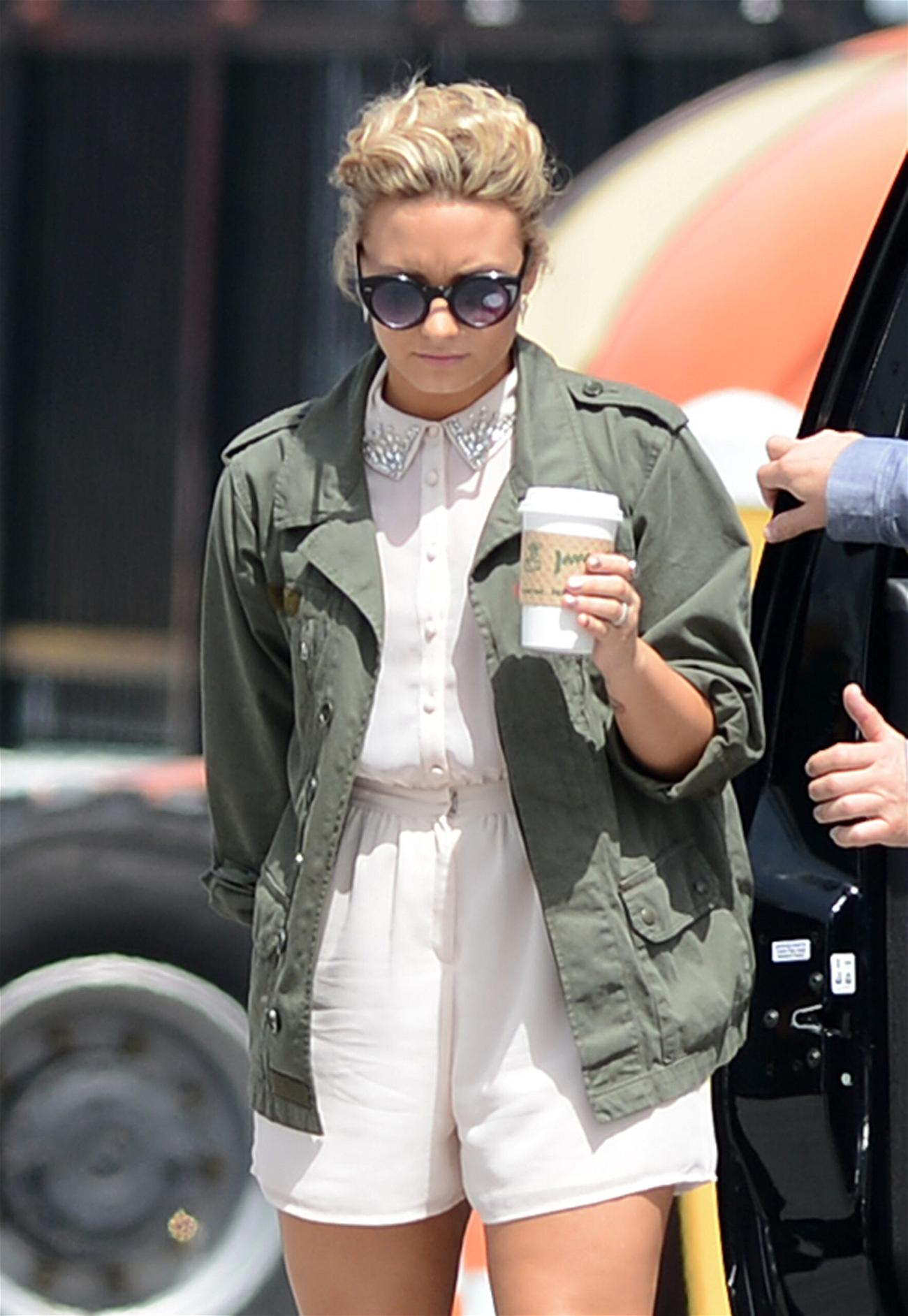Demi Lovato arrives to the Fillmore Miami Beach for Day 3 taping of The X Factor quot Bootcamp quot in Miami Beach