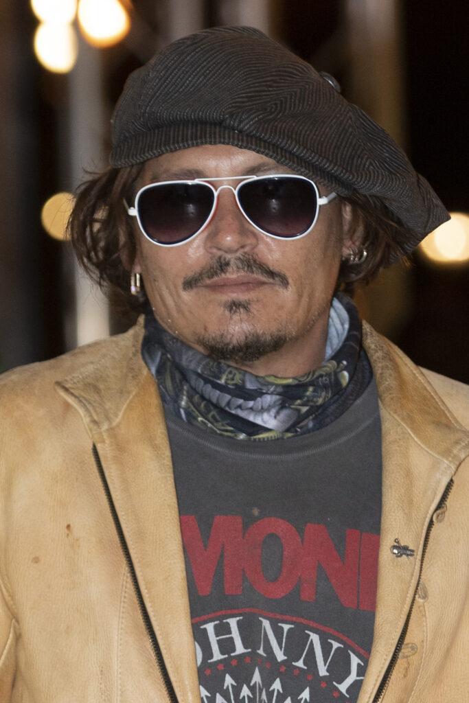 Johnny Depp arrives at Maria Cristina Hotel for the 68th San Sebastian International Film Festival