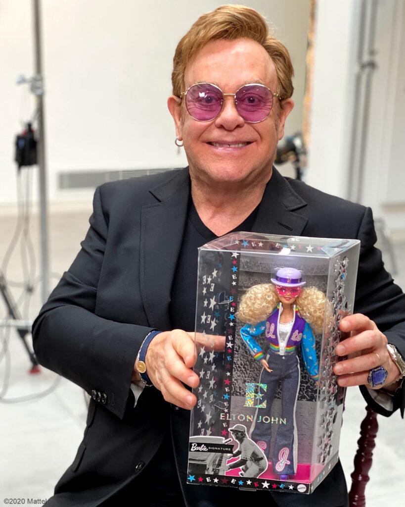 Elton John gets a Barbie doll