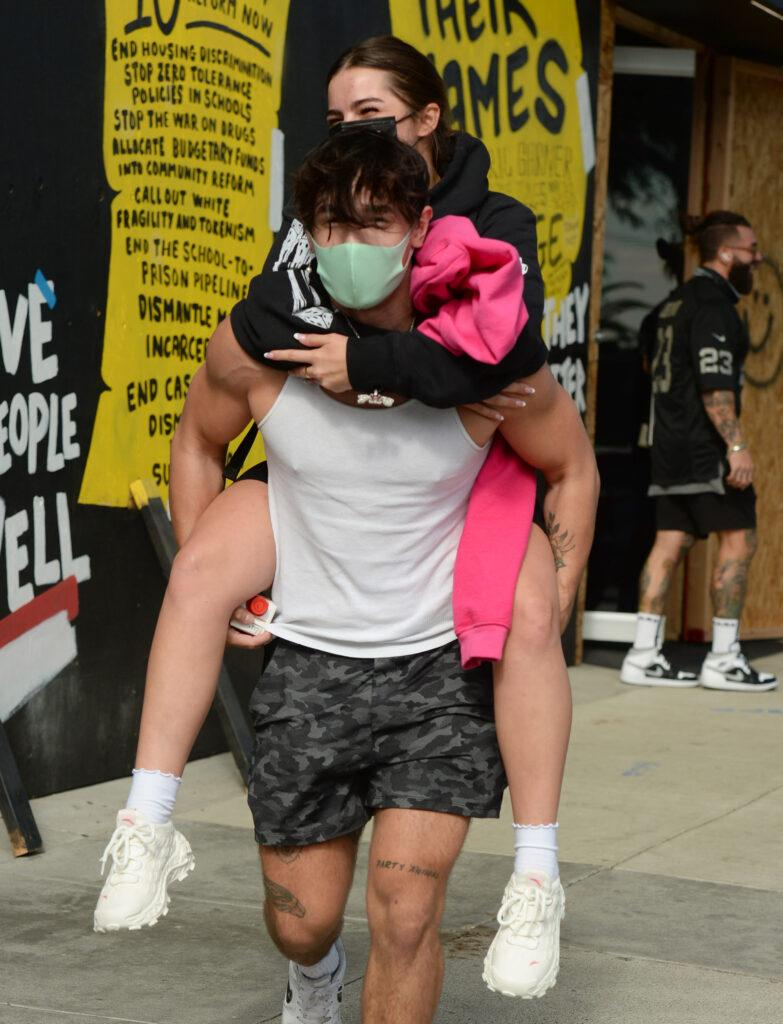 Addison Rae and boyfriend Bryce Hall Out and About