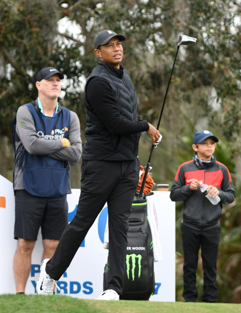 Tiger Woods and Son Charlie Compete at PNC Championship in Orlando