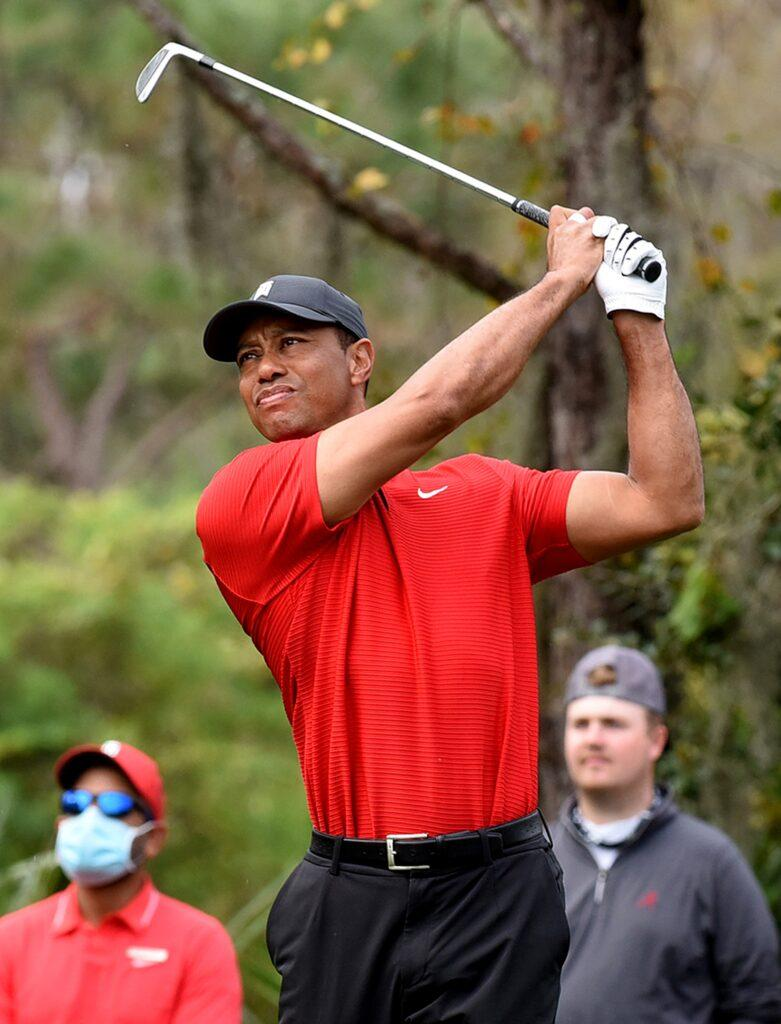Tiger Woods and Son Charlie play in Orlando US - 20 Dec 2020