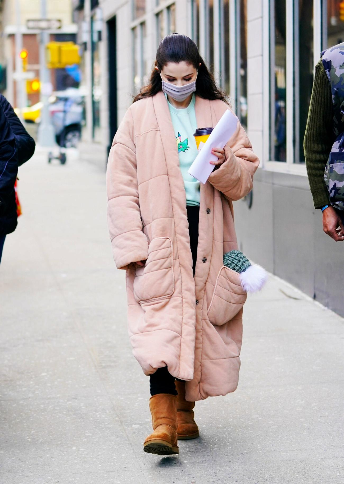 Selena Gomez on location for apos Only Murderers in the Building apos in New York