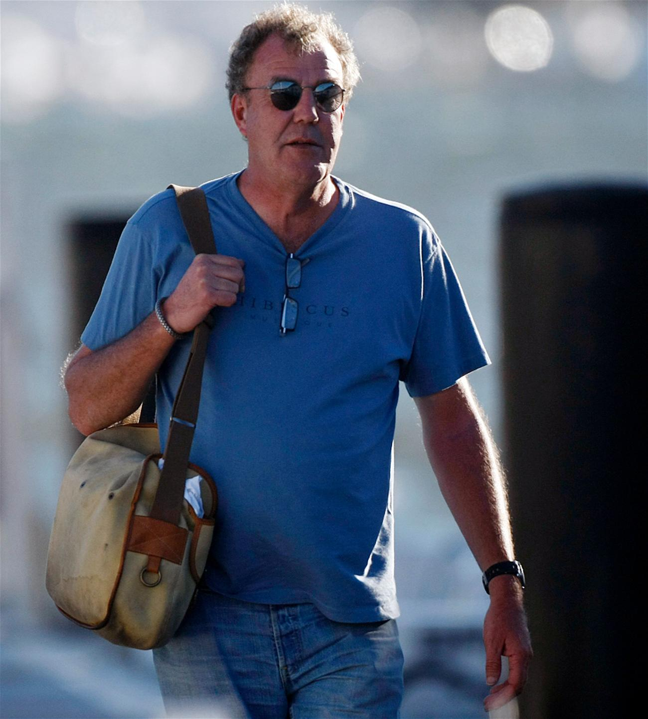 Jeremy Clarkson James May and Shane Jacobson on yacht in Perth