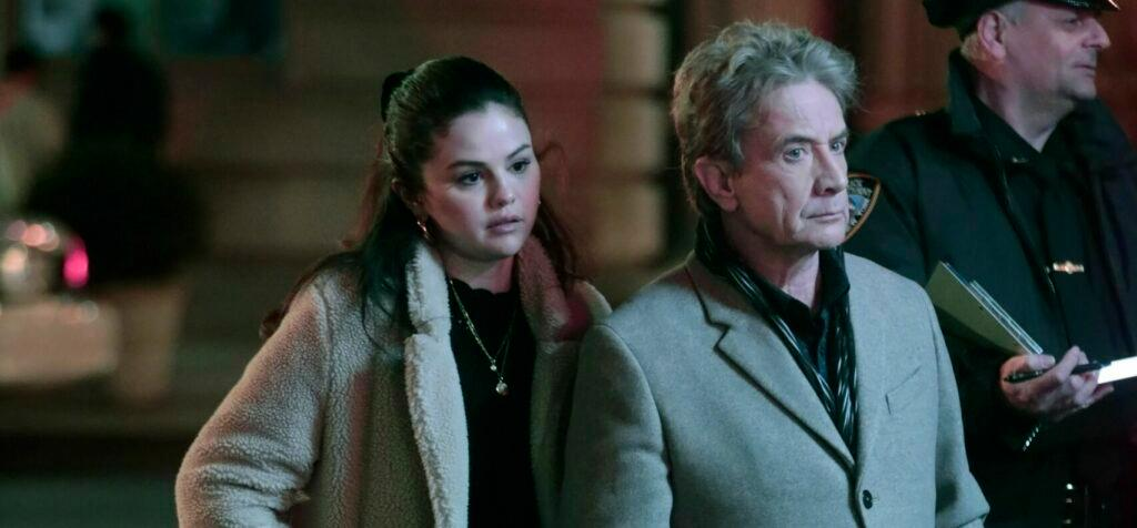 Selena Gomez Martin Short and Steve Martin Filming quot Only Murders In The Building quot in NY