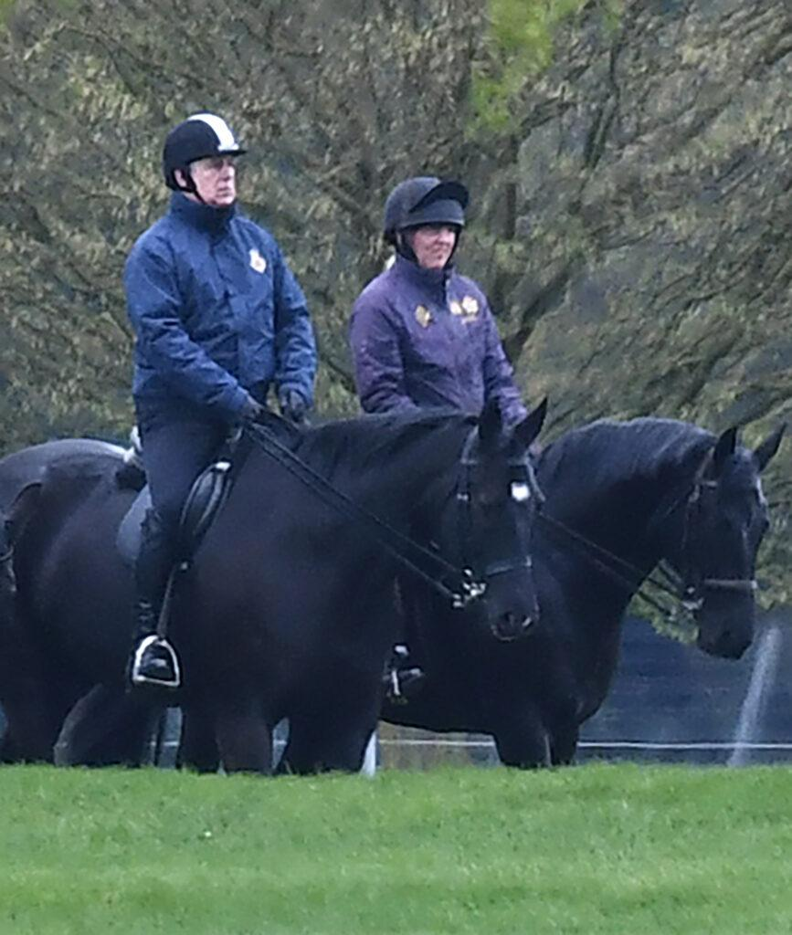 Prince Andrew goes horse riding in Windsor