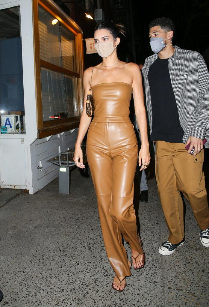 Kendall Jenner and Devin Booker were seen heading out for dinner in NYC
