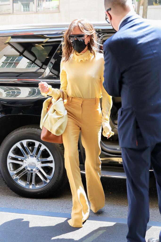 David Beckham and Victoria Beckham seen arriving back at their hotel in NYC