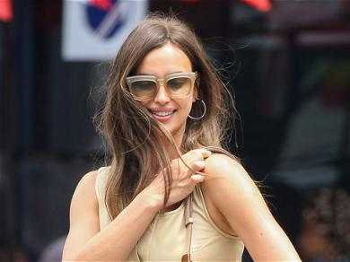 Irina Shayk Sizzles In A Black Shirt & Minuscule Shorts While Out & About In LA