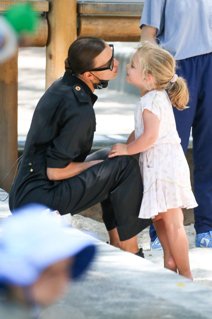 Irina Shayk and her daughter Lea De Seine Shayk Cooper seen having a quality time at the playground in NYC