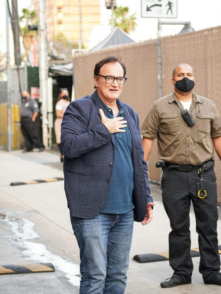 Quentin Tarantino outside Jimmy Kimmel Live