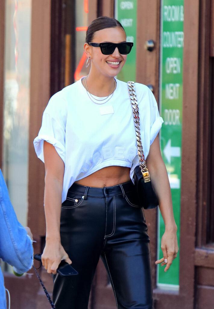 Irina Shayk running errands in Downtown