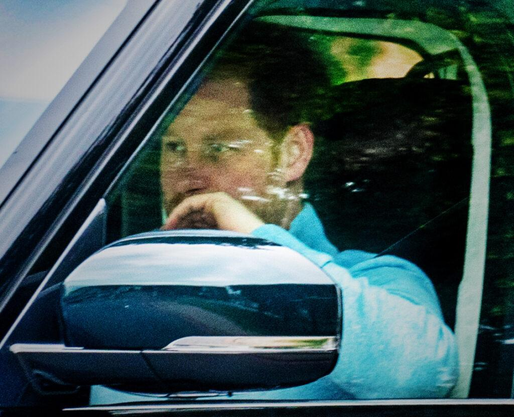 Prince Harry arriving at Kew Gardens in London