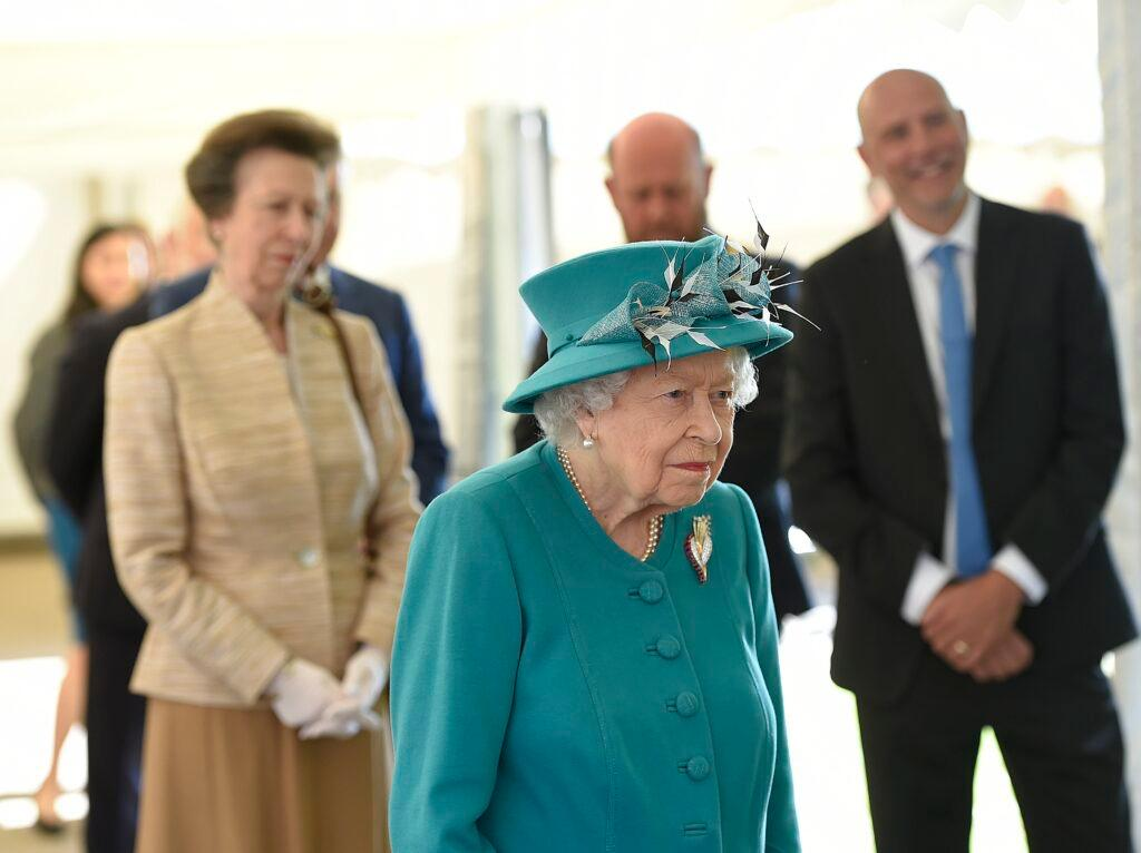 Her Majesty Queen Elizabeth II and Princess Anne The Princess Royal