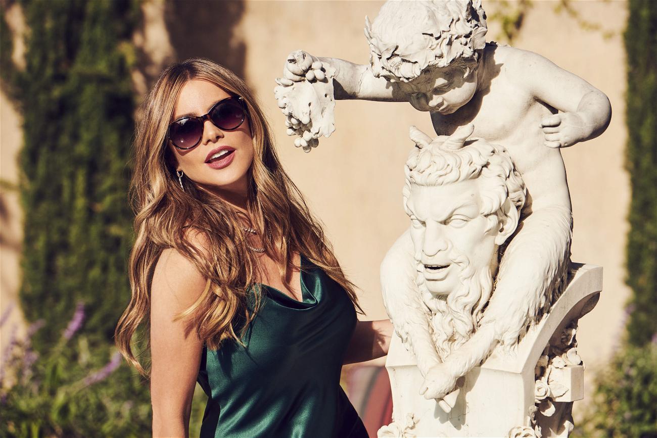 Sofia Vergara models eyewear from her Sofia Vergara x Foster Grant collection