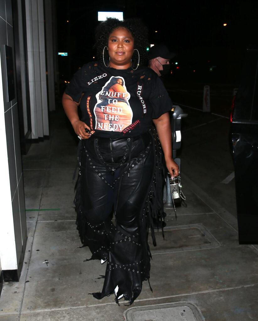 Lizzo was seen arriving to dinner at Catch Restaurant in West Hollywood CA