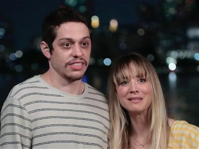 Pete Davidson & Kaley Cuoco Spotted Holding Hands While Filming 'Meet Cute'