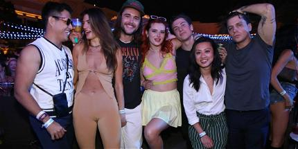 Bella Thorne STUNS At The Wynn, Las Vegas Partying With 'The Chainsmokers!'