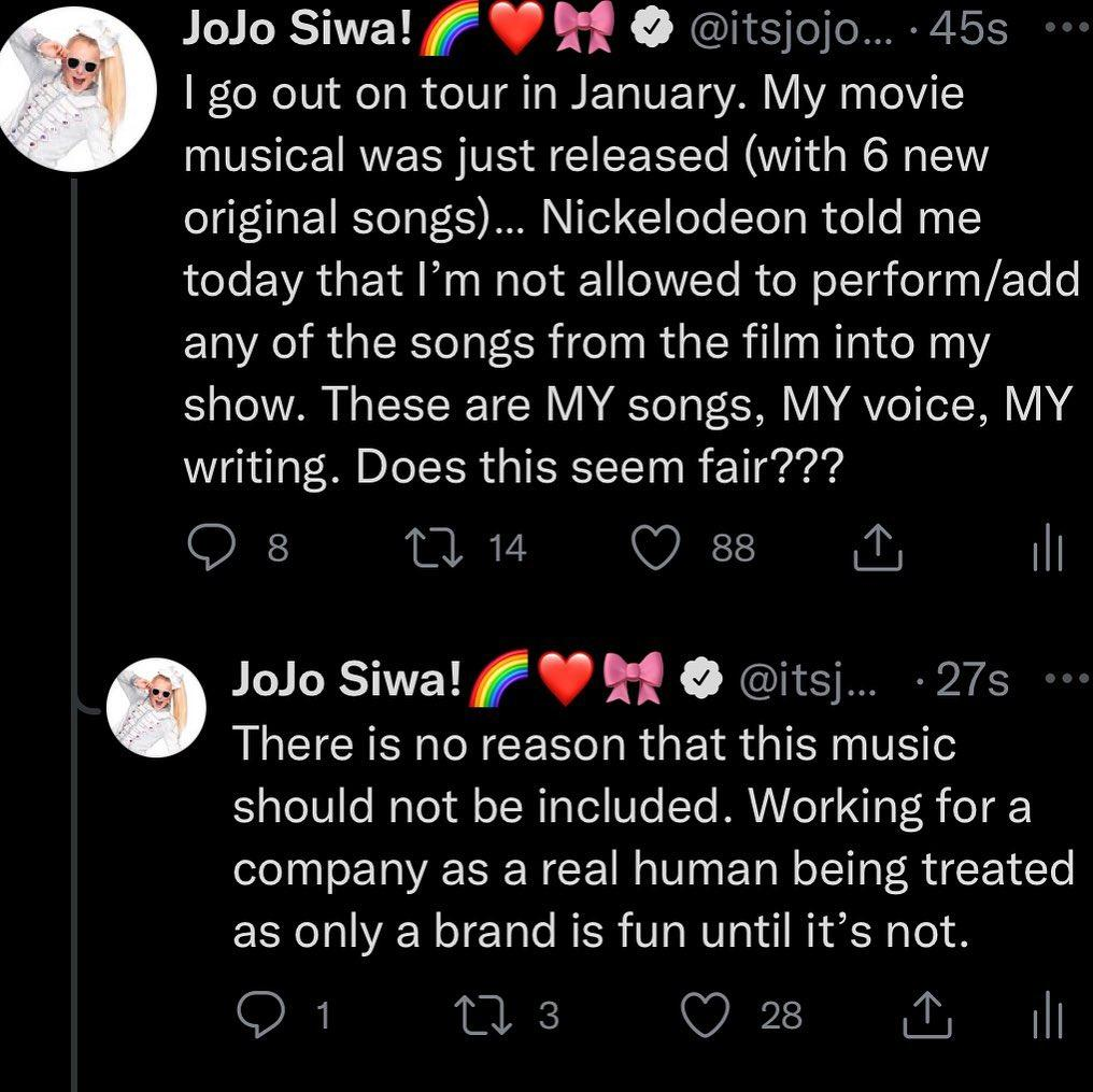 JoJo Siwa BLASTS Nickelodeon Over Rights To Perform Her Own Music